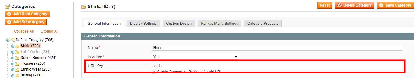 URL key For Magento 1