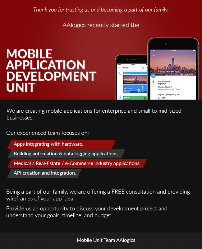AALogics Mobile Application Development